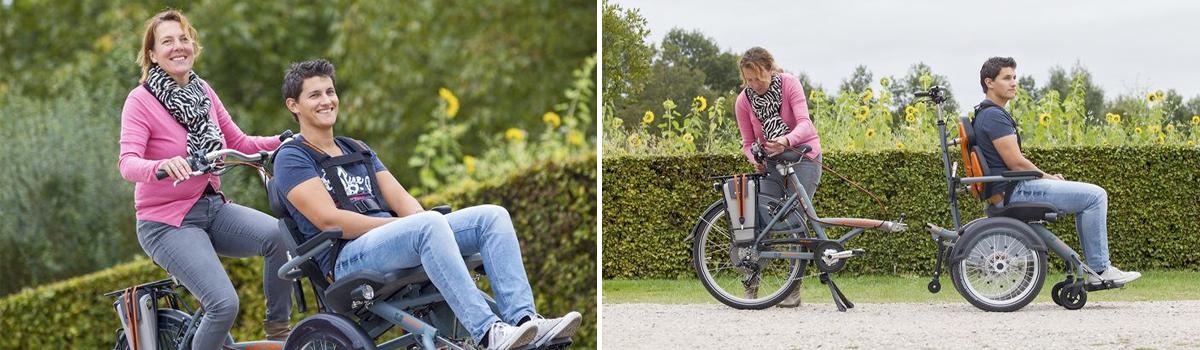 van raam Opair rolstoelfiets lease koppeling