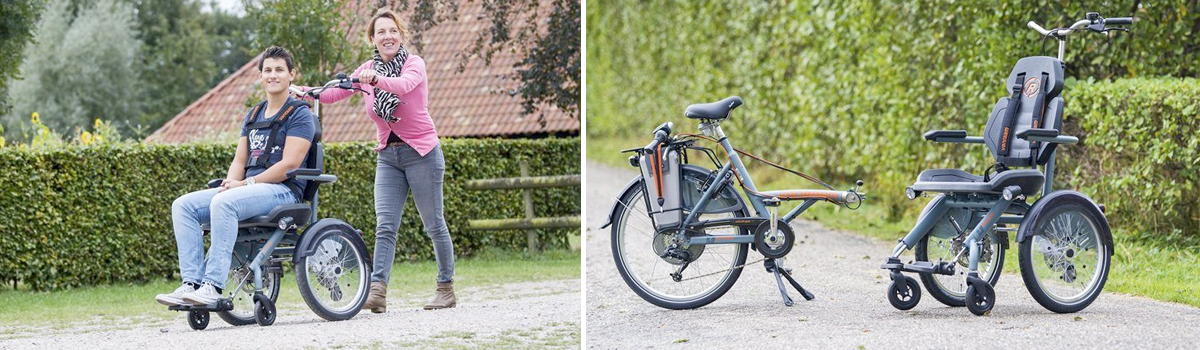 van raam Opair rolstoelfiets losgekoppeld