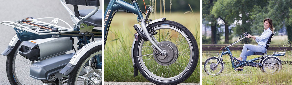 van raam easy rider driewielfiets accu motor slot