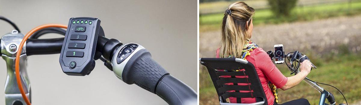 van raam easy rider driewielfiets display smartphonehouder