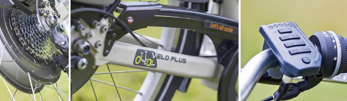 veloPlus rolstoelfiets rolstoeltransport fiets details