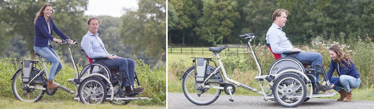veloPlus rolstoelfiets rolstoeltransport fiets